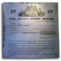 Gold License for mining in Ballarat goldfields