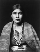 Old photo of a Navajo woman